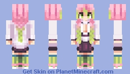 Mitsuri Kanroji Minecraft Skin