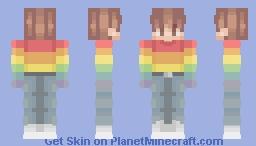 Rainbow moment Minecraft Skin
