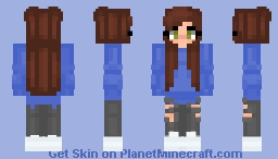 Basic Blue Jumper Girl Minecraft Skin