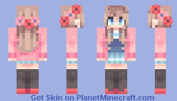 Red and pink Minecraft Skin