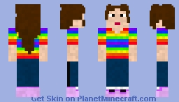 Rainbow Kid Minecraft Skin