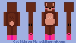 I Made Just A Bear Some Rainboots! Minecraft Skin