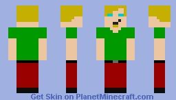 Ultra Instinct Shaggy (Papercraft-Friendly) Minecraft Skin