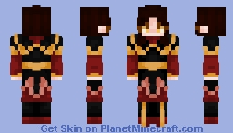 "-""Fire Lord Azula.. well, it DOES seem appropriate.."" Minecraft Skin"