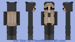 pink panther but in black Minecraft Skin