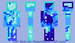 Enchanted Man (diamond man) (with diamond armor) Minecraft Skin