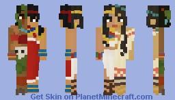 Aztecs and Egyptians Entry | Four Women Minecraft Skin