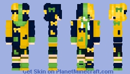 Yellow + Blue = Green Minecraft Skin
