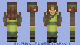 Haru the Earthbender Minecraft Skin