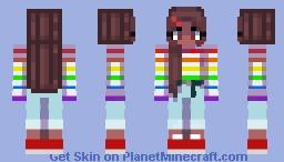 ~ aesthetic rainbow girl ~ Minecraft Skin