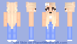 Basic Platinum Hair Girl Minecraft Skin