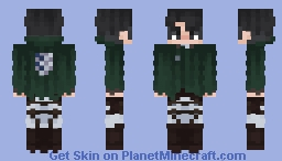 Levi | Attack On Titan Minecraft Skin