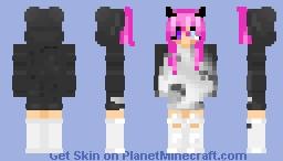 Ahegao hoodie girl Minecraft Skin