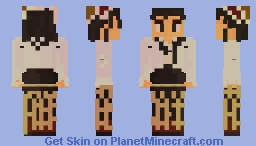 Alsatian Woman in her Traditional Dress Minecraft Skin