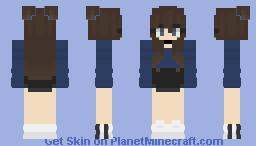 Navy Blue Girl Minecraft Skin