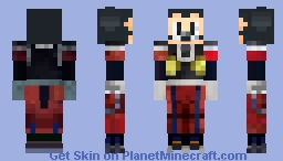 Mickey Mouse (Kingdom Hearts 2.5 Heart Of Darkness attire) Minecraft Skin