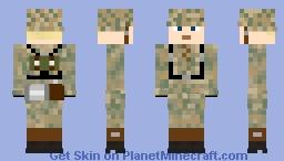 wehrmacht updated soldier Minecraft Skin