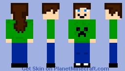 Creeper Sister Minecraft Skin