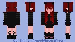 Demon Girl W/ Mask Minecraft Skin