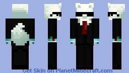 Party Snow Fox(Party Animal, Female) Minecraft Skin