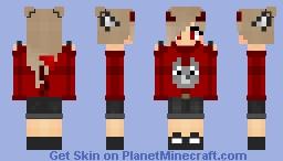 Wolf Demon Girl (for uni) Minecraft Skin