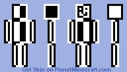 Black and White Guy Minecraft Skin