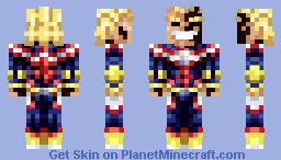 All Might The Powerful ! Minecraft Skin