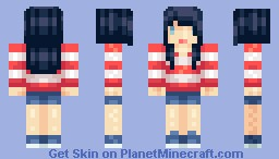 Ms. Patriot [Where's Waldo/Wally?] Minecraft Skin