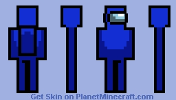Among Us: Blue Crewmate Minecraft Skin