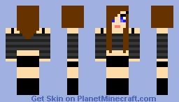 brown haired emo girl Minecraft Skin