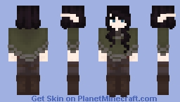Cloaked in Green Minecraft Skin