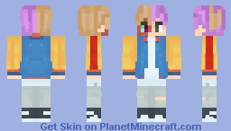 """When Jimin (BTS) and """"Anime"""" mix Minecraft Skin"""
