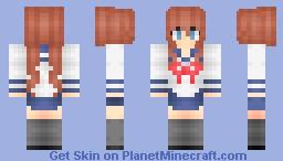 Anime Schoolgirl  。◕‿◕。 Minecraft Skin