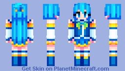 Aqua Konosuba Minecraft Skin