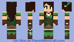 Huntress v2 Minecraft Skin