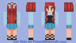Ariel and her Blue Dress Minecraft Skin