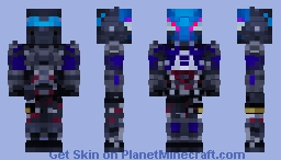 Arkham Knight Re(Re)Vamped (Better in 3D) Minecraft Skin