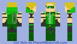 Green Arrow (High-Res) Link in Description Minecraft Skin