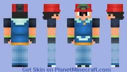 Ash Ketchum Hoenn Minecraft Skin