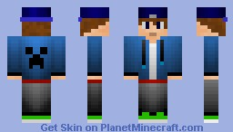 Epic Snapback Teen w/Shading! Creeper-Faced Hoodie Included!!! Looks Better Preview!!! Minecraft Skin