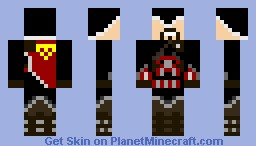 Assassins creed black Minecraft Skin