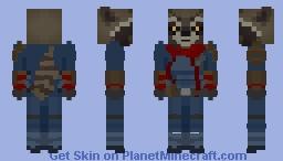 Avengers Endgame: Rocket Raccoon Minecraft Skin