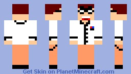 Angry Video Game Nerd Minecraft Skin