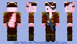 Axolotl Captain Minecraft Skin