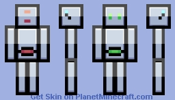 B10X0RZ, the Blocky Bot [Updated for new format] Minecraft Skin