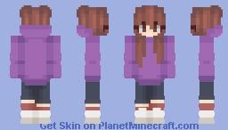 purple hoodie Minecraft Skin