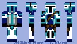 Mandalorian blue Minecraft Skin