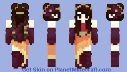 Fire Queen Minecraft Skin