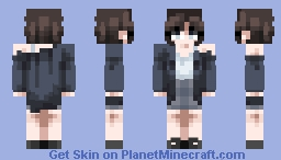 ˑ༄ؘ ۪۪۫۫ ▹ baggy cardigan ◃ ۪۪۫۫ ༄ؘ ˑ Minecraft Skin