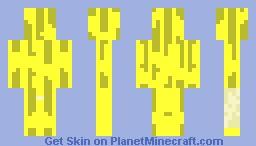 banana skin Minecraft Skin
